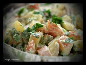 Сладкий картофельный салат