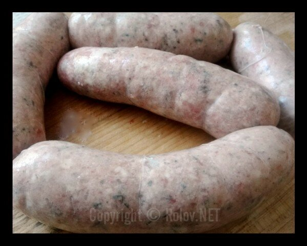 Куриные колбаски Тандури - набили кишки фаршем