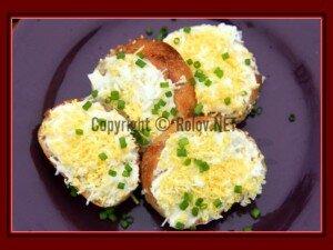 канапе яйцо