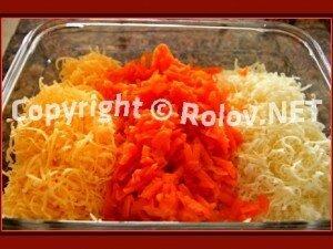 морковь и сыр