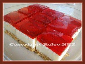 зефирно - клубничный торт