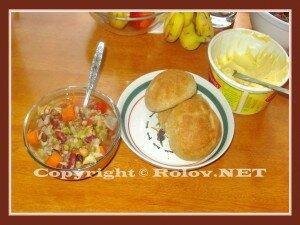 овощной суп с булочками