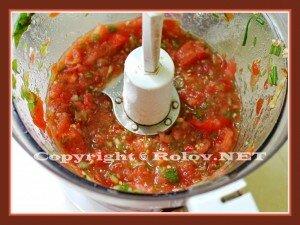 кесадилья с томатной сальсой
