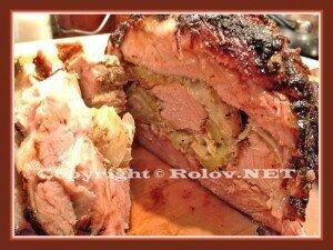 фаршированная жареная свинина