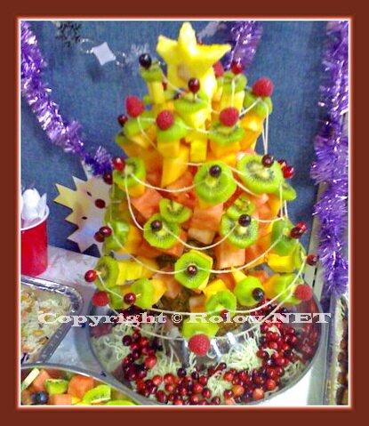 фруктовый салат - елочка