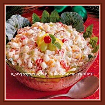 салат сливочно-фруктовый