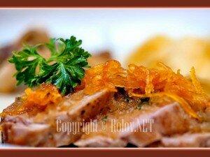 свинина в апельсиновом соусе