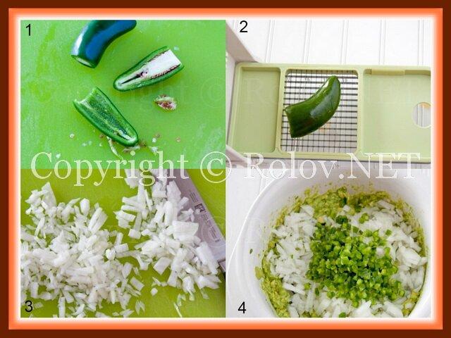 нарезать лук и перец