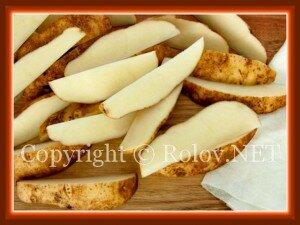 обсушить картофель салфеткой