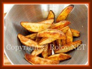 положить картофель к петрушке