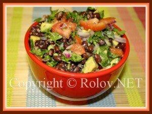 салат из фасоли с авокадо